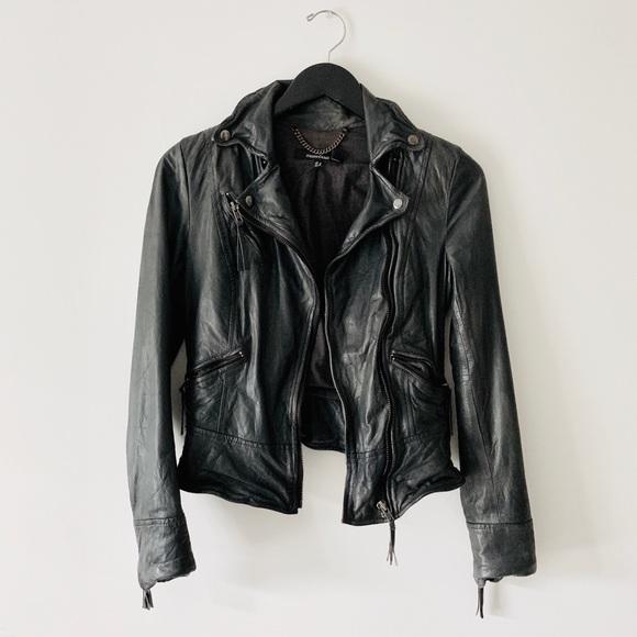 Muubaa biker leather jacket